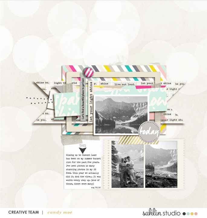 digital scrapbook layout created by ctmm4 featuring Shine Bright by Sahlin Studio