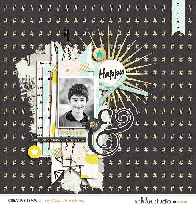 digital scrapbook layout created by damayanti featuring Shine Bright by Sahlin Studio