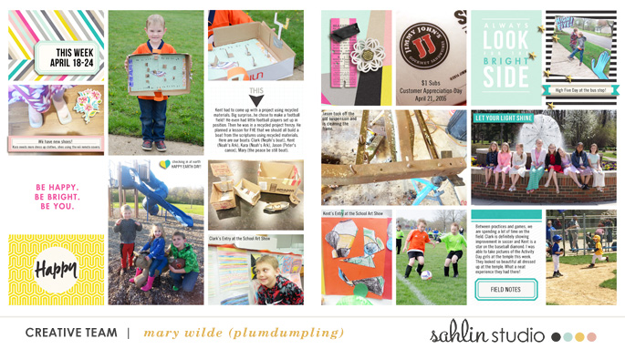 project life layout created by plumdumpling featuring Shine Bright by Sahlin Studio