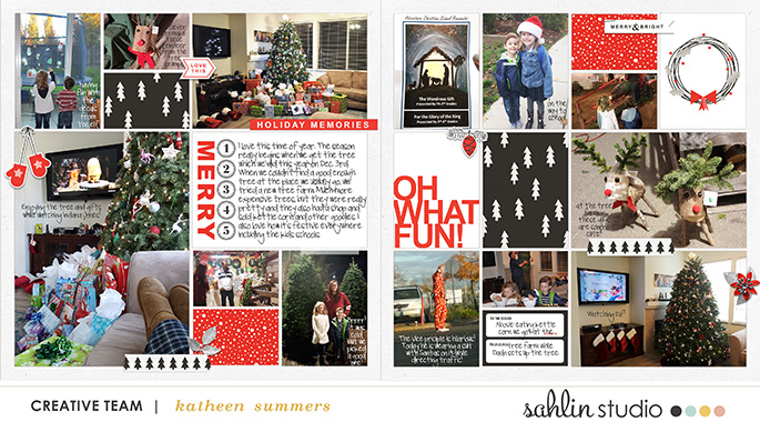 Oh What Fun!! Digital Scrapbooking layout using Clean Lined Pocket Templates Project Life page using Rough Times by Sahlin Studio