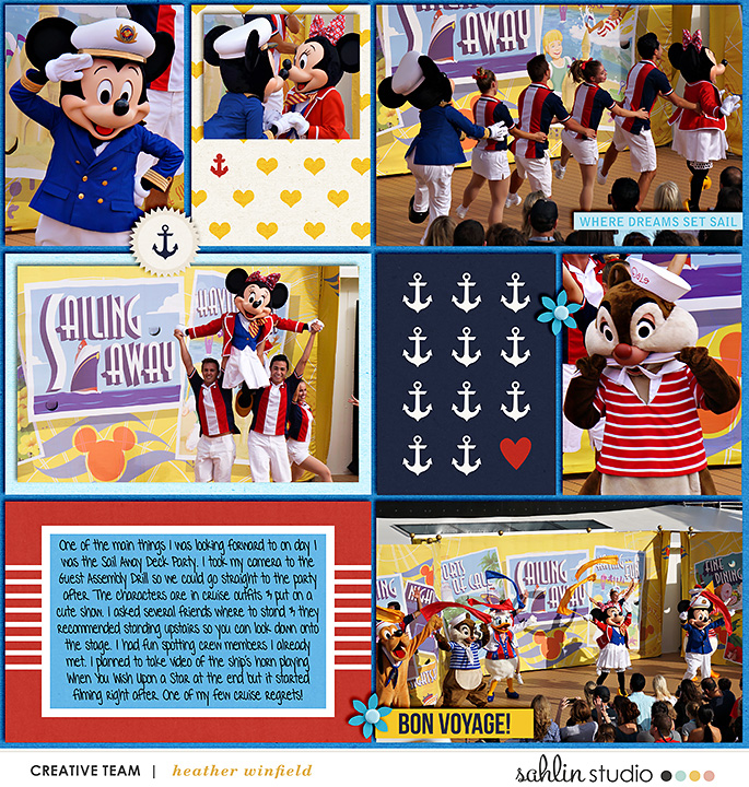Disney Cruise - Digital Scrapbooking layout using Clean Lined Pocket Templates - It keeps all the clean lines of the classic pocket templates, but with more visual interest to keep things exciting!