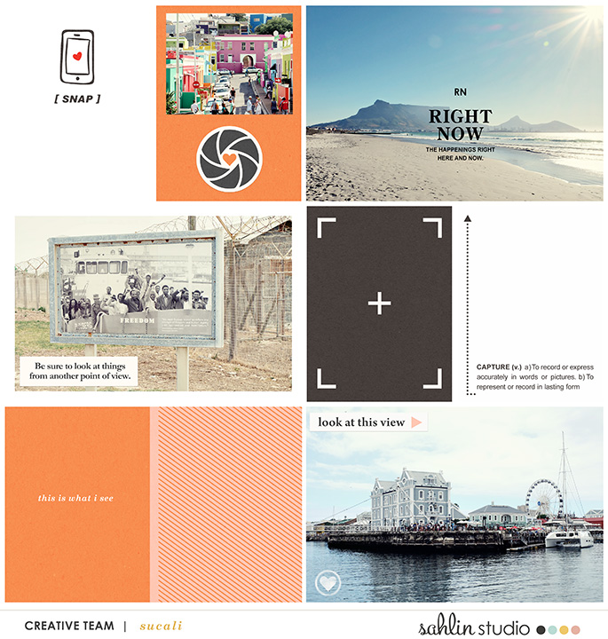 Digital Scrapbooking layout using Clean Lined Pocket Templates - It keeps the clean lines of the classic pocket templates we know, but with more visual interest to keep things exciting!