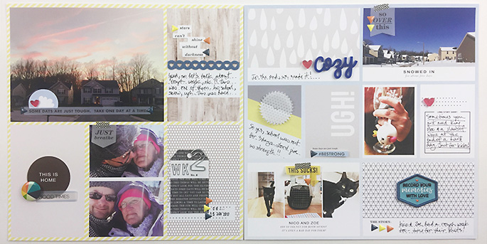 Some Days are Hard - UGH! Project Life page using Rough Times by Sahlin Studio