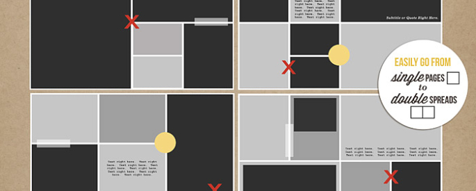 Clean Lined Pocket Templates No 1 by Sahlin Studio