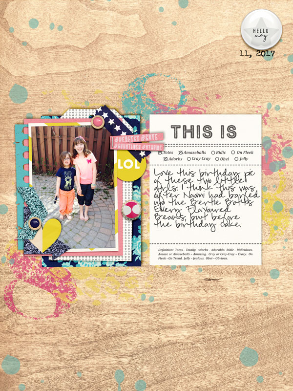 digital scrapbook layout created by Juliestcyr featuring Totes Adorbs by Sahlin Studio