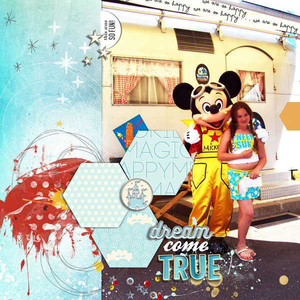Disney Parade digital scrapbooking page using Project Mouse: Artsy by Sahlin Studio and Britt-ish Designs