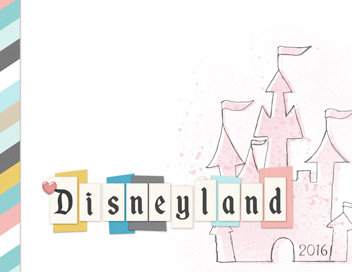 Disneyland Album Cover using Project Mouse: Artsy 1 and Beginnings by Sahlin Studio and Britt-ish Designs