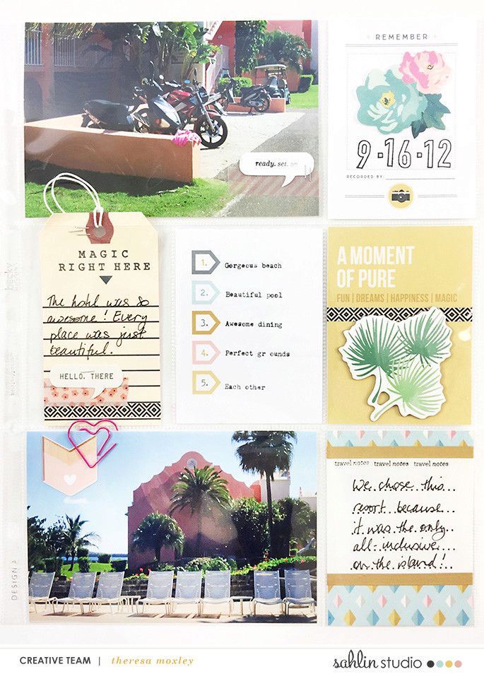 Project Life layout using Project Mouse: Beginnings Kit and Journal Cards by Sahlin Studio and Britt-ish Designs