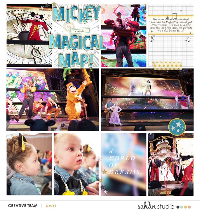 Disney Mickey and the Magical Map digital project life page using Project Mouse: Artsy and Beginnings by Sahlin Studio and Britt-ish Designs
