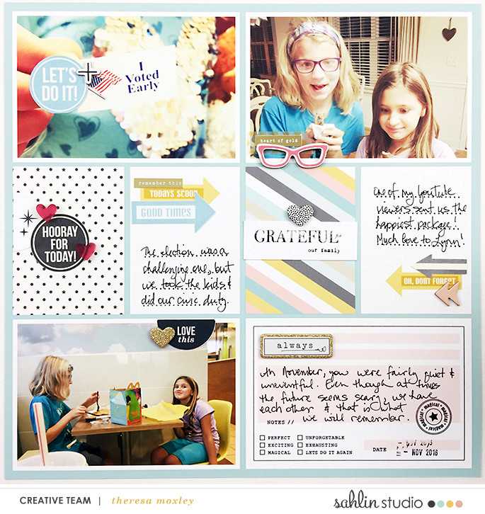 Weekly Project Life page using Project Mouse: Photo Tabs and Beginnings by Sahlin Studio and Britt-ish Designs