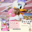 Disney Daisy digital scrapbooking page using Project Mouse: Pins and Beginnings by Sahlin Studio and Britt-ish Designs