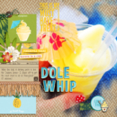 Dole Whip Adventureland digital scrapbooking page using Project Mouse: Enamel Pin Alpha by Sahlin Studio and Britt-ish Designs