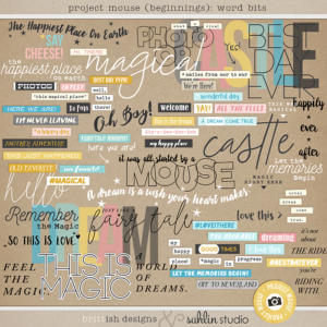 Project Mouse (Beginning): Word Bits | by Britt-ish Designs and Sahlin Studio - Perfect for your Disney / Disneyland Project Life or scrapbook layouts!