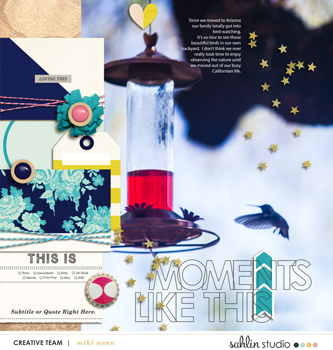 digital scrapbooking layout created by mikinenn featuring Totes Adorbs by Sahlin Studio