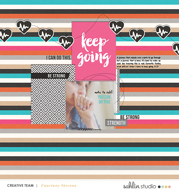 digital scrapbook layout created by cnscrap featuring Love Your Body by Sahlin Studio