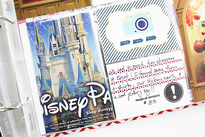 Sahlin Studio CT Theresa Moxley | Disney Project Life Album #10 Epcot Continued