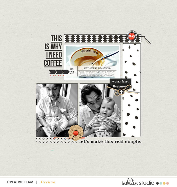 Digitial Scrapbooking Layout by Deekaa - May 2017 FREE Template by Sahlin Studio