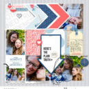 Here's the Plain Truth digital scrapbooking layout using For Real Kit by Sahlin Studio