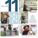 Eleven months digital pocket scrapbooking page using For Real by Sahlin Studio