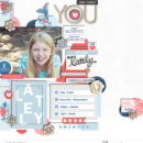 You digital scrapbooking kit using For Real by Sahlin Studio