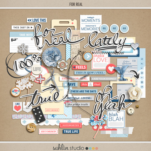 For Real (Elements) by Sahlin Studio - Digital Scrapbooking Kit