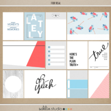 For Real (Journal Cards) by Sahlin Studio - Digital and Printable Journal Cards perfect for scrapbooking or Project Life!