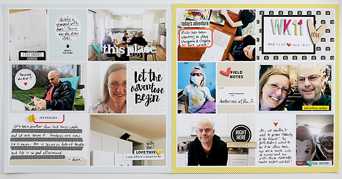 project life hybrid scrapbook layout created by larkindesign featuring You Are Here by Sahlin Studio