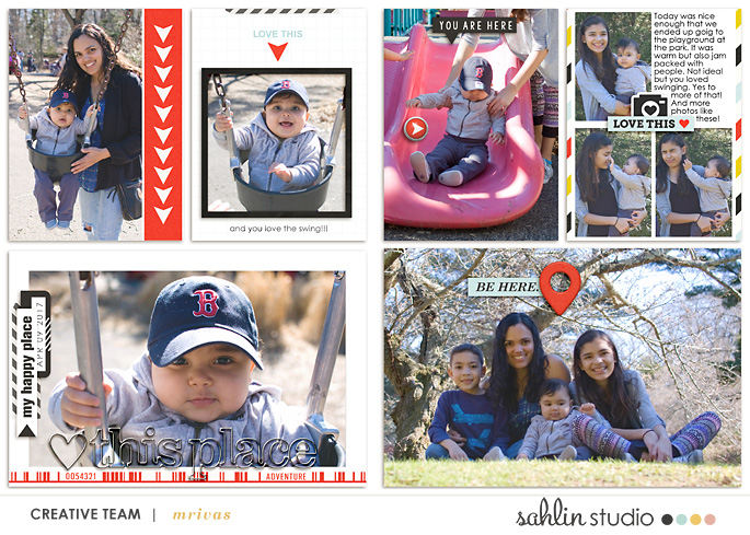 project life digital scrapbook layout created by mrivas2181 featuring You Are Here by Sahlin Studio