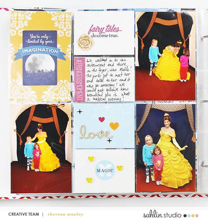 Sahlin Studio CT Theresa Moxley Disney Project Life Album – #10 Princess Dinner at Akershus