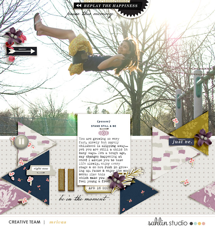 digital scrapbook layout created by mrivas2181 featuring June 2017 FREE Template by Sahlin Studio
