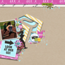 Look at her go digital scrapbooking page using Project Mouse (Run) by Britt-ish Designs and Sahlin Studio