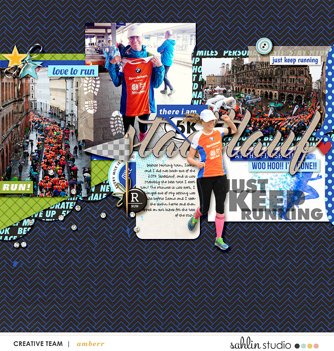 Just Keep Running digital scrapbooking page by Amberr using Project Mouse (Run) by Britt-ish Designs and Sahlin Studio