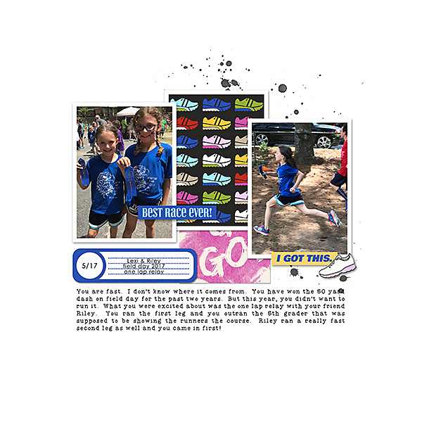 Best Race Ever digital scrapbooking page by ashleywb using Project Mouse (Run) by Britt-ish Designs and Sahlin Studio