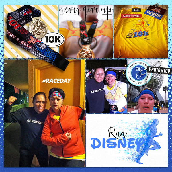 Run Disney 10K digital project life page using Project Mouse (Run) by Britt-ish Designs and Sahlin Studio