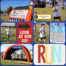 Apex Fun Run digital project life double page by bestcee using Project Mouse (Run) by Britt-ish Designs and Sahlin Studio