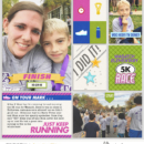 Just Keep Running digital project life page using Project Mouse (Run) by Britt-ish Designs and Sahlin Studio