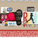 Make every step digital scrapbooking page using Project Mouse (Run) by Britt-ish Designs and Sahlin Studio