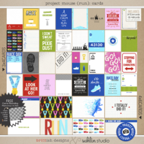 Project Mouse (Run) Journal Cards by Britt-ish Designs and Sahlin Studio - Perfect for your magical races, runs, marathons and exercise in your Project Life or Project Mouse albums!
