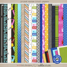 Project Mouse (Run) Papers by Britt-ish Designs and Sahlin Studio - Perfect for your magical races, runs, marathons and exercise in your Digital Scrapbooks or Project Life or Project Mouse albums!