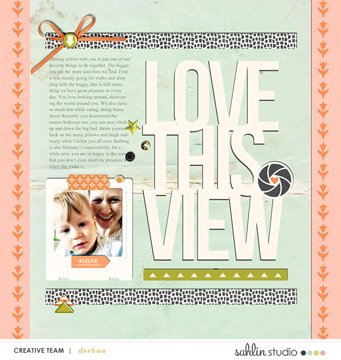 digital scrapbook layout created by deeka featuring Viewpoint by Sahlin Studio