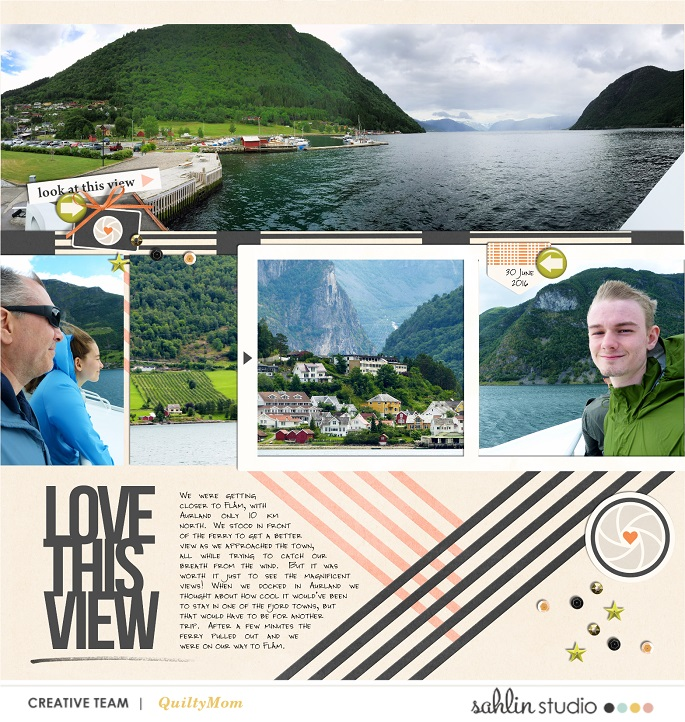 digital project life layout created by quiltymom featuring Viewpoint by Sahlin Studio
