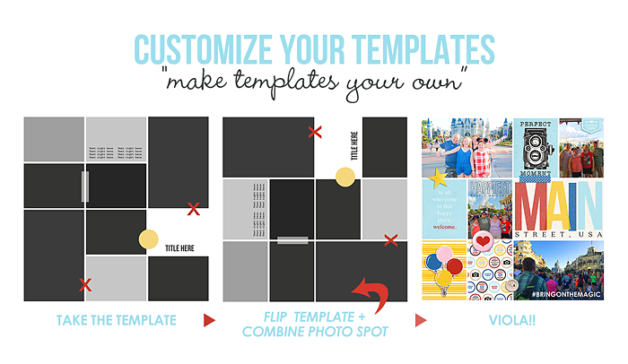 Customize Your Template - Make Templates Your Own!! Flip it, Combine Photo Spots...