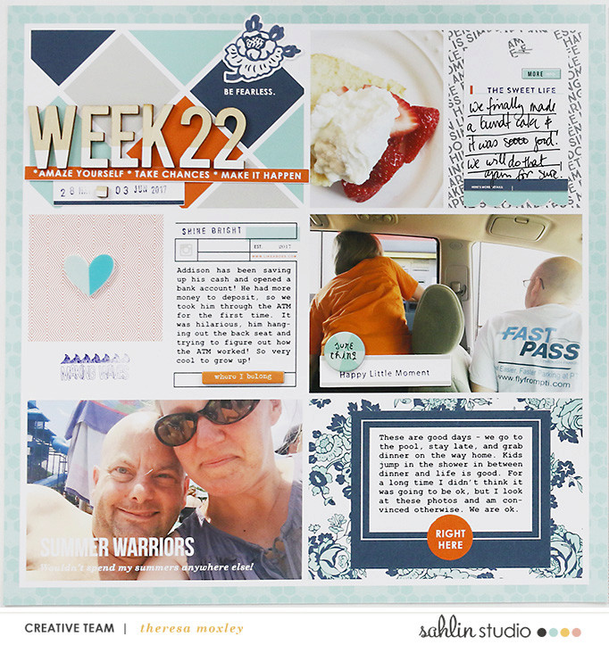 project life digital scrapbooking layout created by larkin design featuring Like A Boss by Sahlin Studio
