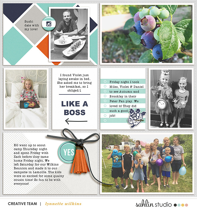 project life digital scrapbooking layout created by lynnette featuring Like A Boss by Sahlin Studio