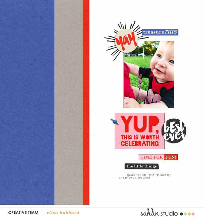 digital scrapbooking layout created by ehstudios featuring Celebrate by Sahlin Studio
