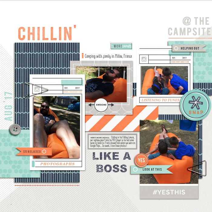 August 2017 Challenge winner layout created by Vrielinkie featuring Like a Boss by Sahlin Studio