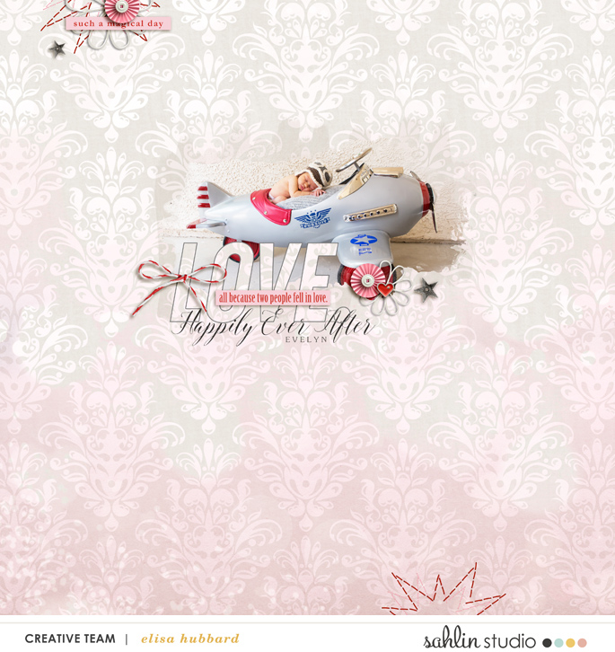 Happily Ever After digital scrapbooking page using Project Mouse (Celebrate) by Britt-ish Designs and Sahlin Studio