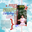 First Timer digital scrapbooking page using Project Mouse (Celebrate) by Britt-ish Designs and Sahlin Studio