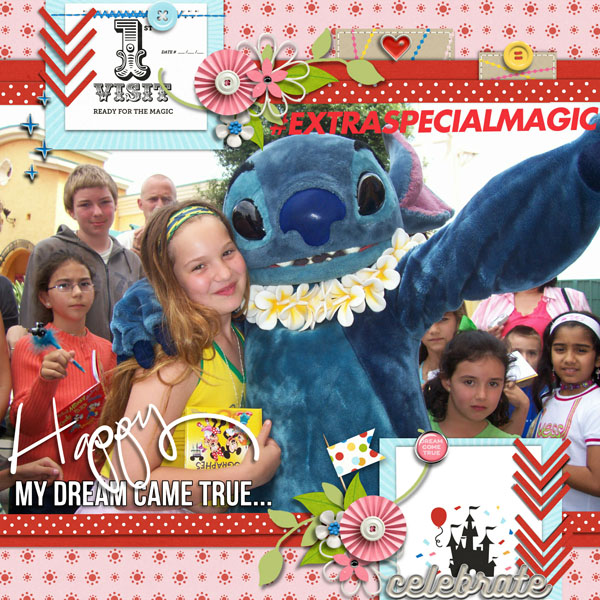 First visit digital scrapbooking page using Project Mouse (Celebrate) by Britt-ish Designs and Sahlin Studio