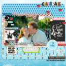 7 Year Anniversary digital scrapbooking page using Project Mouse (Celebrate) by Britt-ish Designs and Sahlin Studio